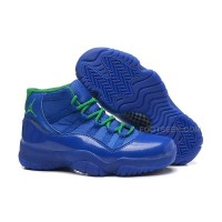 Girls Air Jordan 11 Retro GS Blue/Green Online For Sale Womens Size