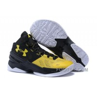 Discount Under Armour GS Curry 2 Women Yellow Black Sneaker ZGmW8Ca