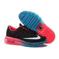 Womens Nike Air Max 2016 Running Shoes Black/Pink-Blue