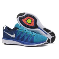 Nike Flyknit Lunar 2 Womens Sky Blue Sea Blue Running Shoes