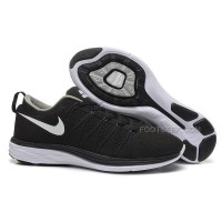 Nike Flyknit Lunar 2 Womens Black White Running Shoes Lightweight