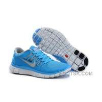 Nike Free 5.0 Womens Blue Light Grey Running Shoes New Style