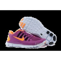 Nike Free 5.0 Womens Purple Orange Running Shoes Online