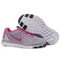 Nike Free TR Fit Womens Training Shoes Grey Pink Discount
