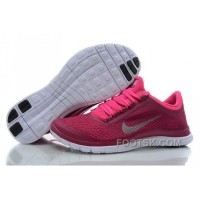 Womens Nike Free 3.0 V5 Pink White Running Shoes Online