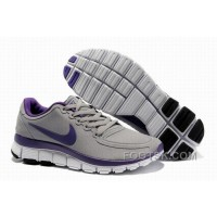 Womens Nike Free 5.0 V4 Grey Purple Running Shoes Authentic