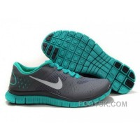 Womens Nike Free Run 4.0 V2 Carbon Grey Green Running Shoes Online