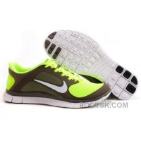 Womens Nike Free Run 4.0 V3 Coffee Green Running Shoes For Sale
