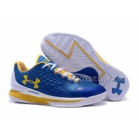 Womens Under Armour Curry One Low Royal Blue Yellow White Discount
