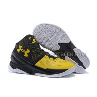 Womens Under Armour Curry Two Shoes Black Yellow Discount