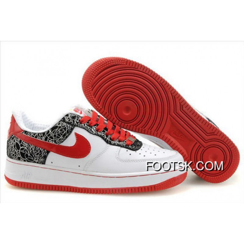 save off b4f0f 35e50 Women's Nike Air Force 1 Low Shoes White/Red/Black Online