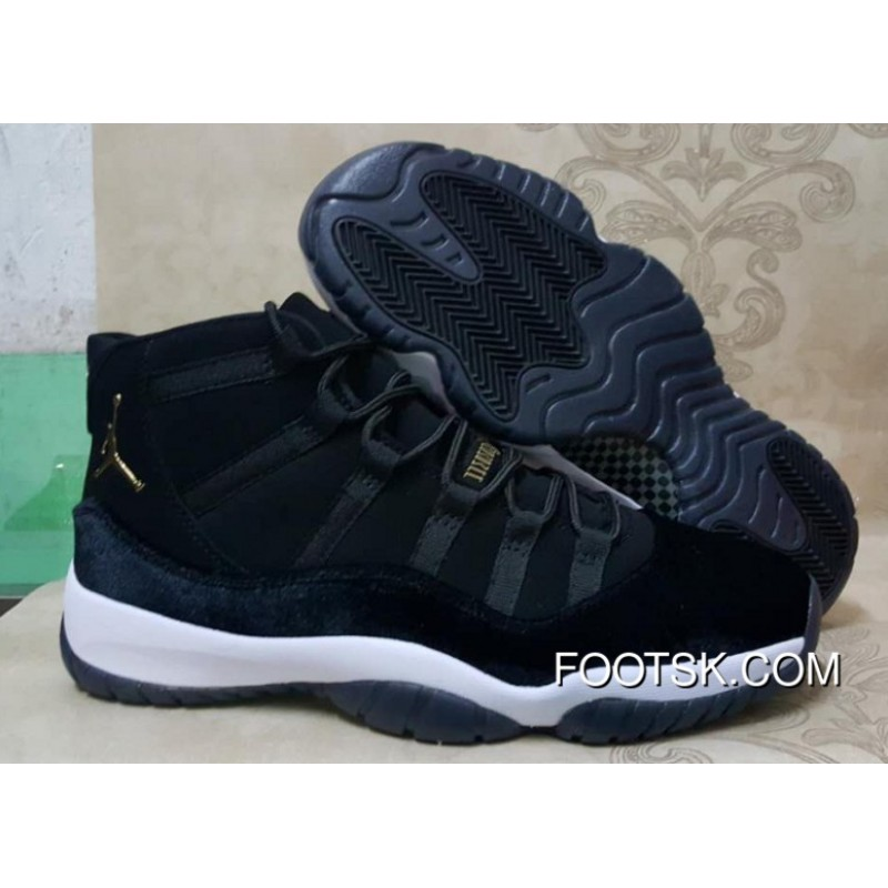 e56b87034738 Cheap Air Jordan 11 Black Gold White Super Deals JxhFTa