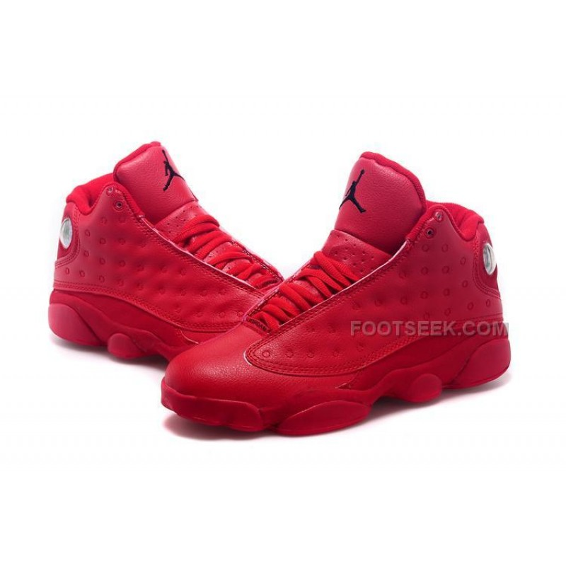 online retailer c60d7 bc43e ... Latest Limited Nike Air Jordan XIII 13 Retro Womens Shoes All Red  Basketball Sneakers ...