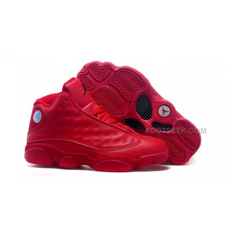 finest selection 97943 acedc Latest Limited Nike Air Jordan XIII 13 Retro Womens Shoes All Red  Basketball Sneakers ...