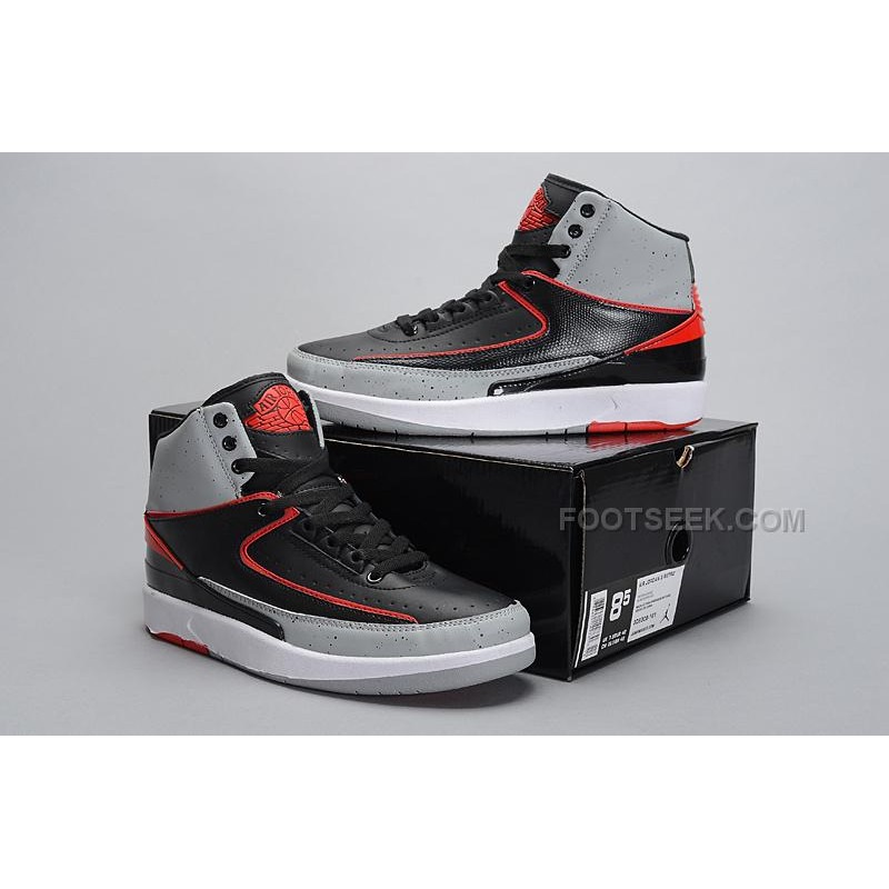official photos 6e96b 26118 Air Jordan 2 (II) Retro Black/Infrared 23-Pure Platinum-White For Sale