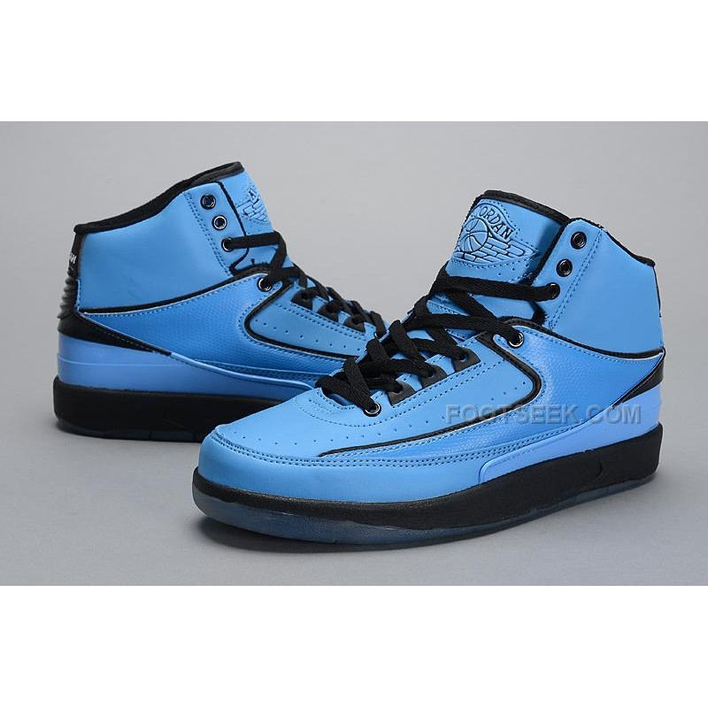 bcbefc25d89096 ... promo code for this air jordan 2 blue features a mostly university blue  upper with black