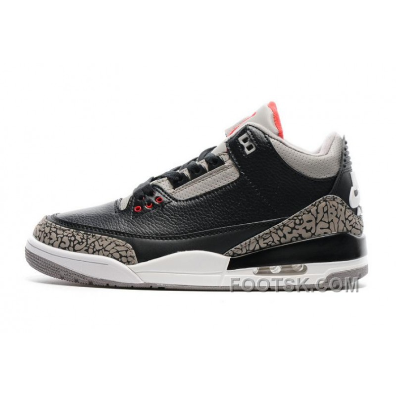 "newest 9548d 7e2a9 2017 Mens Air Jordan 3 ""Black Cement"" For Sale Top Deals"