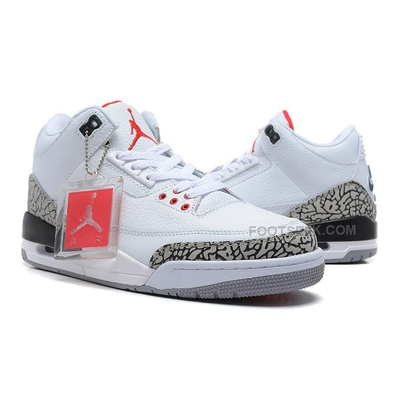 official photos 21712 476ca For Sale Air Jordan 3 Retro '88 White/Black-Cement Grey