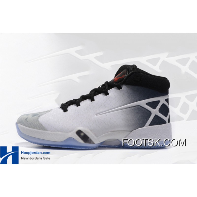 brand new 22f21 99685 ... Air Jordan 30 XXX White Black-Wolf Grey Russell Westbrook Shoes For  Sale 7aa2n ...