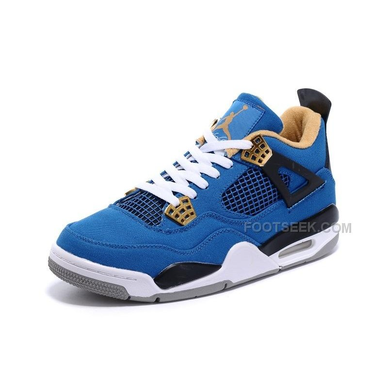 ac803b7a6c2438 Eminem x Carhartt x Air Jordan 4 Canvas Game Blue Black-White-Grey ...