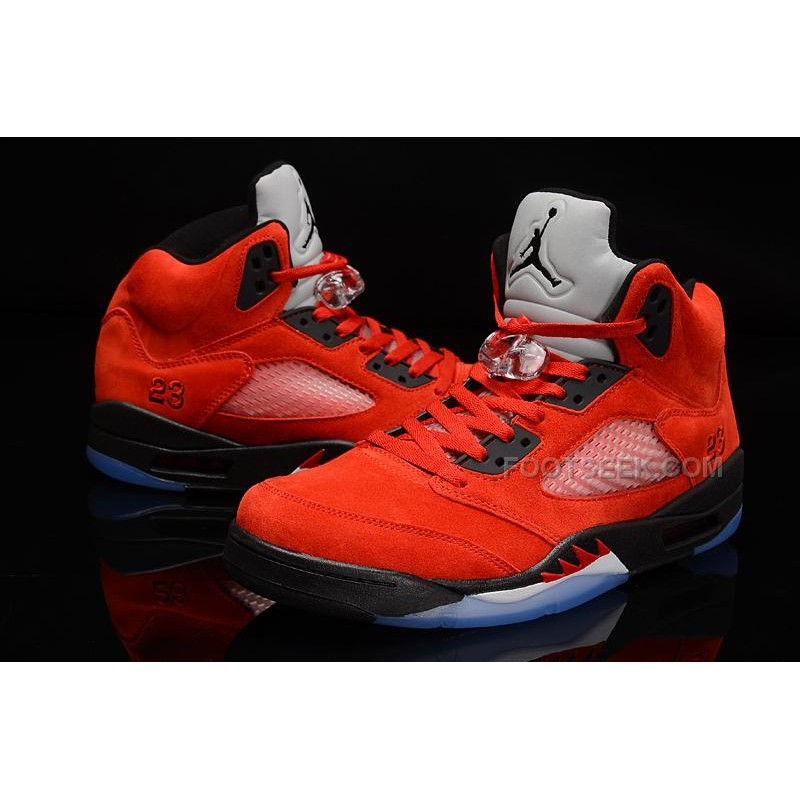 new style 4132f e0075 ... shopping nike air jordan 5 raging bull or toro bravo 2015 red suede hot  for 23104