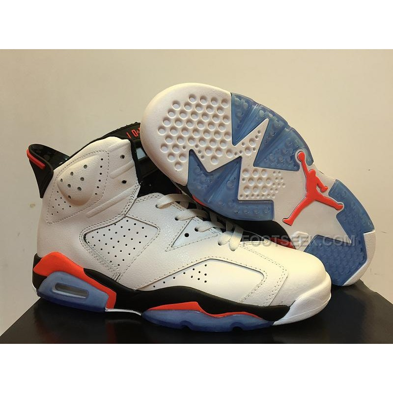 "finest selection 0b08a 1eebd Sale Air Jordan 6 High ""White Infrared"" 23-Black"