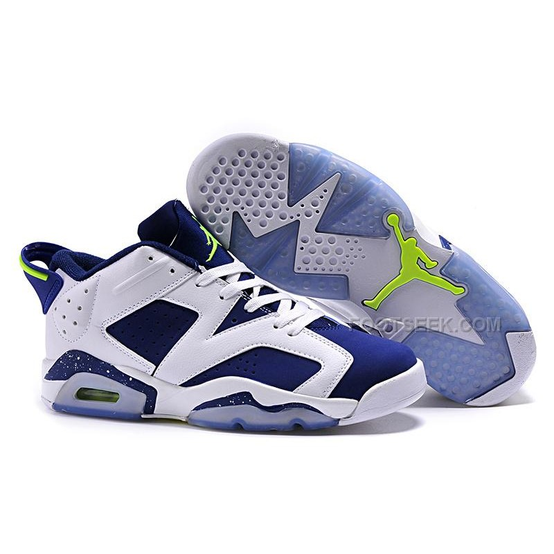 "official photos 341a9 6a574 Air Jordan 6 Retro Low ""Ghost Green"" White/Ghost Green-Insignia Blue 2015"