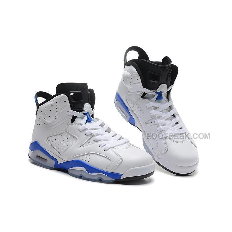 the best attitude dba9a ef041 ... coupon code for air jordan 6 vi retro white sport blue black online for  sale 52427