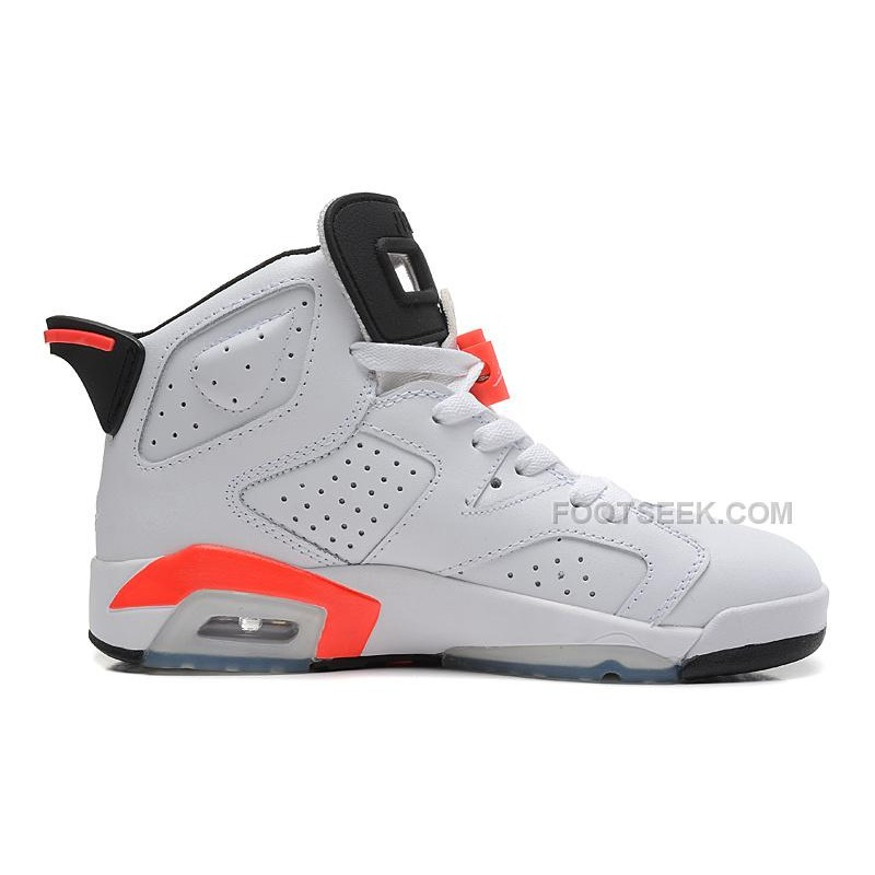 "a8d874d9bea72c ... Cheap Price Air Jordan 6 Retro ""Infrared"" White Infrared-Black  Basketball Shoes ..."