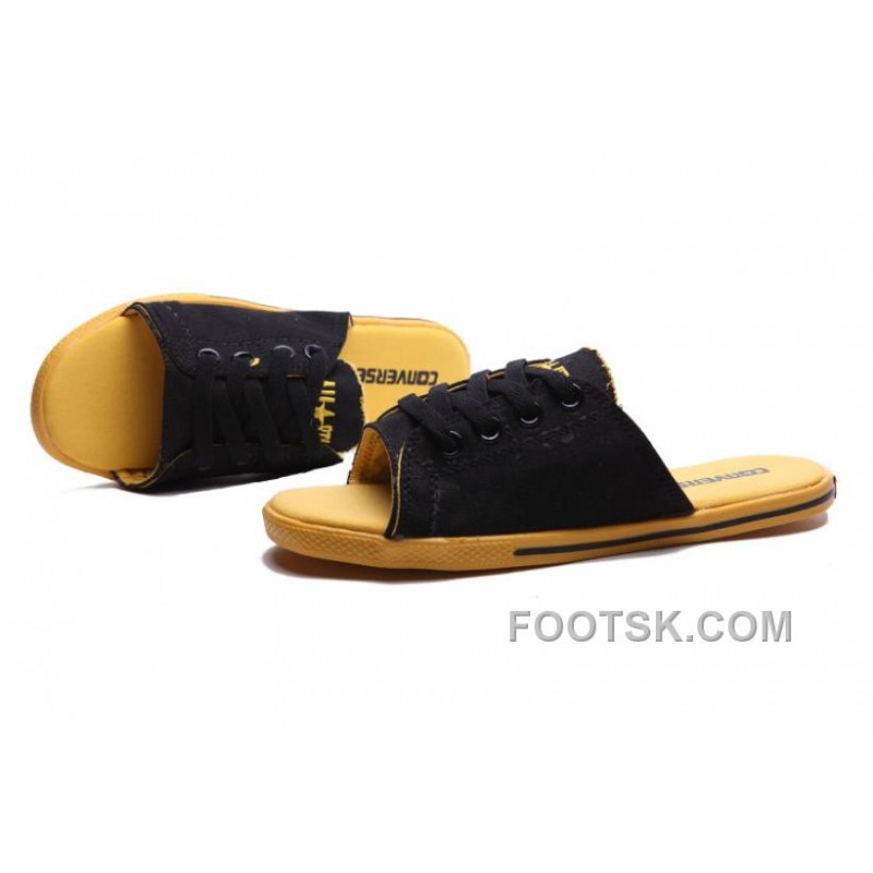 1e6a1d27a7dc CONVERSE Summer Cutaway EVO Chuck Taylor All Star Slippers Black Yellow Hot