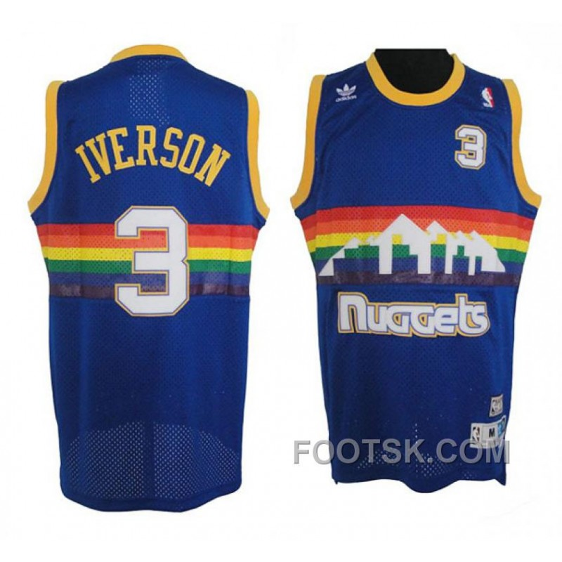 Allen Iverson Denver Nuggets #3 Soul Swingman Road Jersey For Sale