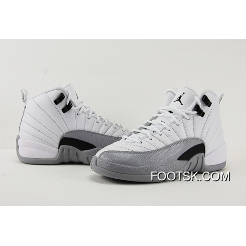 """timeless design 067fc a5a25 New Air Jordan 12 """"Barons""""-Wolf Grey/White - Release Free Shipping AkN2pn"""