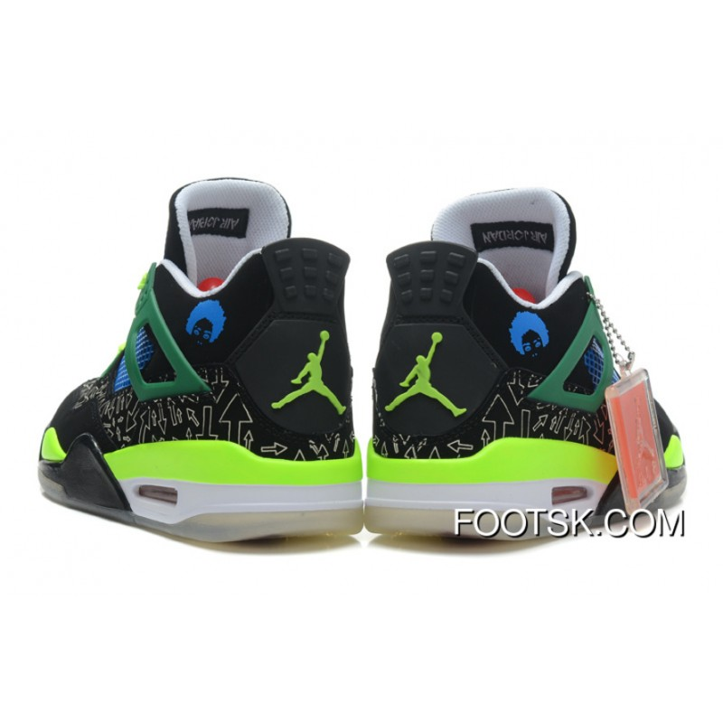 """new product 64a6a d1d28 ... """"Superman"""" Air Jordan 4 Black Old Royal-Electric Green-White Authentic   """" ..."""