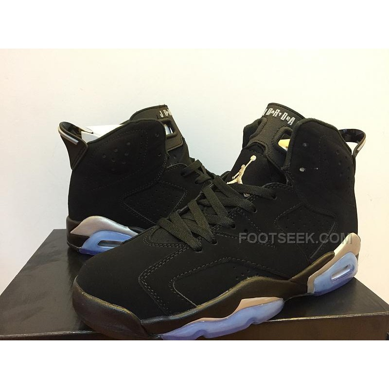 best website c1085 e3784 New Air Jordan 6 Black And Gold Icy Blue Bottom Girls Size 5.5 To Mens Size  13
