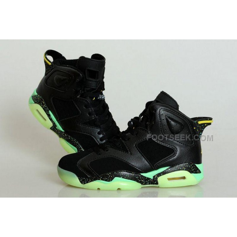 e41b9a8d8414 Glow In The Dark Jordan 6 GS World Cup Black Suede Yellow Free Shipping ...