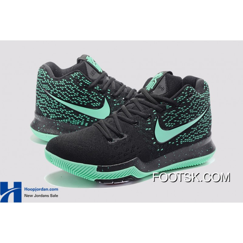 new product a12a7 07eae Nike Kyrie 3 Green Black PE GS s Basketball Shoes New Release PZFQNtK