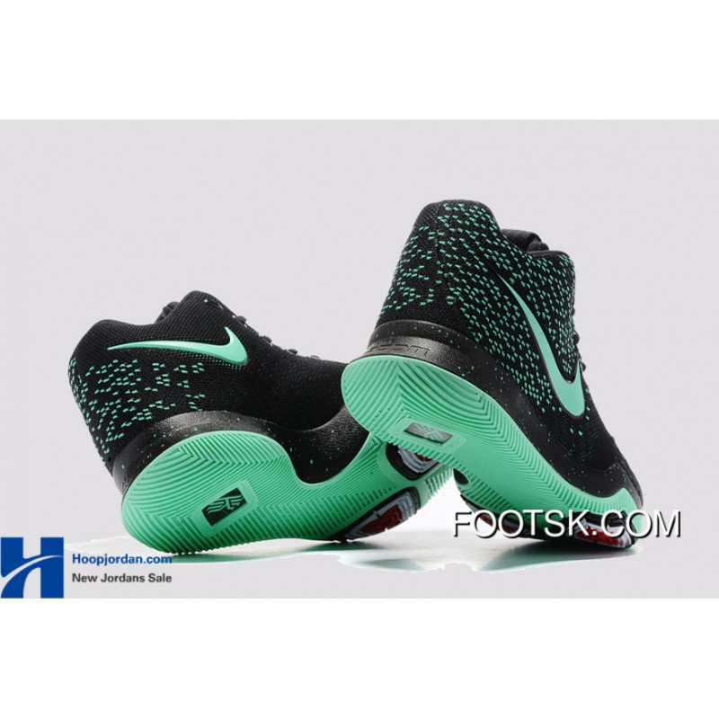 best website c1246 9278d Nike Kyrie 3 Green Black PE GS's Basketball Shoes New Release PZFQNtK