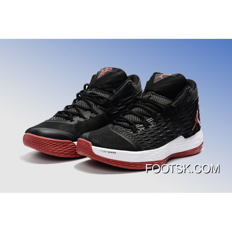 "a85328f1729ad4 Jordan Melo M13 ""Bred"" Black Varsity Red-White - Release New Style ..."