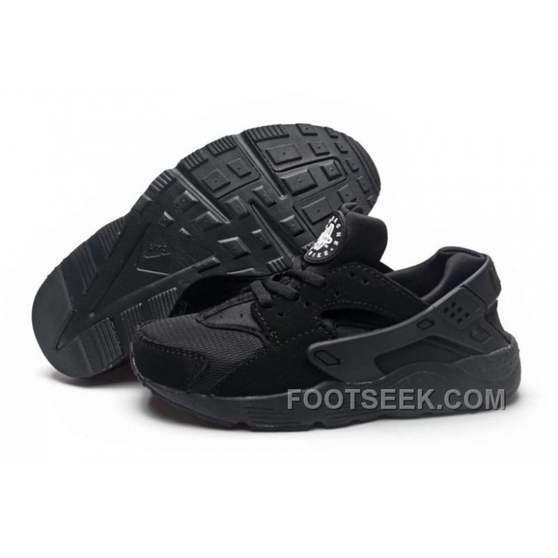 nike huarache youth black
