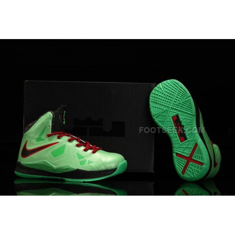 7bfec0fddbf Nike Lebron 10 Kids Shoes China Limited Edition Green