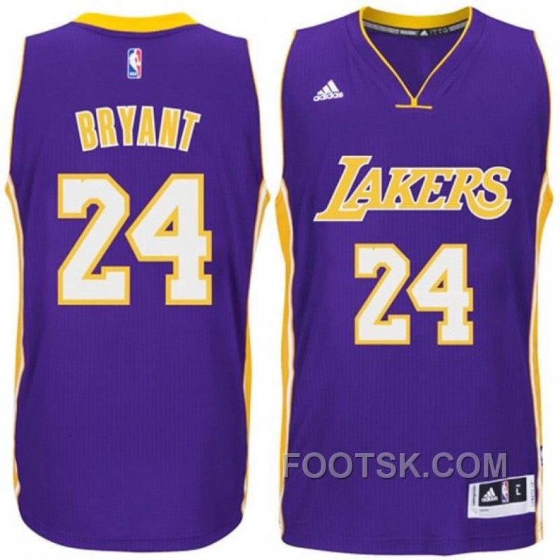 Kobe Bryant Los Angeles Lakers #24 2014-15 Swingman Road Purple Jersey New Style