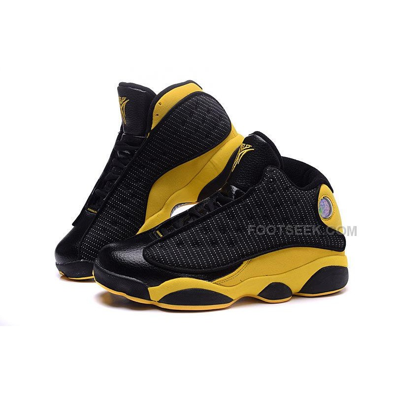 buy popular 1da82 8bd46 Air Jordan 13 Melo Carmelo Anthony Nuggets Away PE Black Yellow Gold New