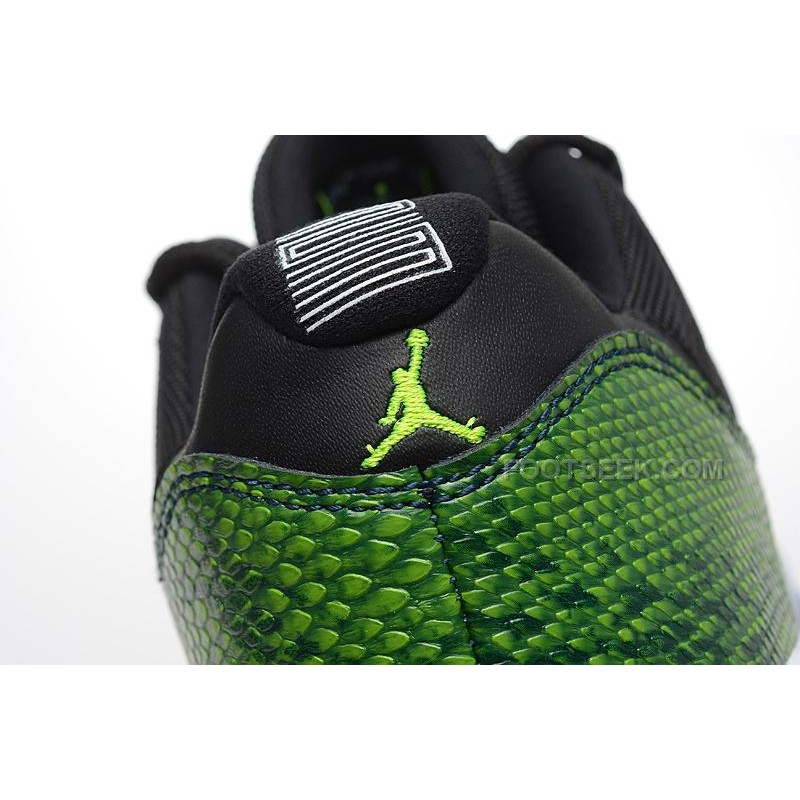 3a95374629ea ... Air Jordan 11 Low Green Snakeskin Black Nightshade White Volt Ice Shoes  ...