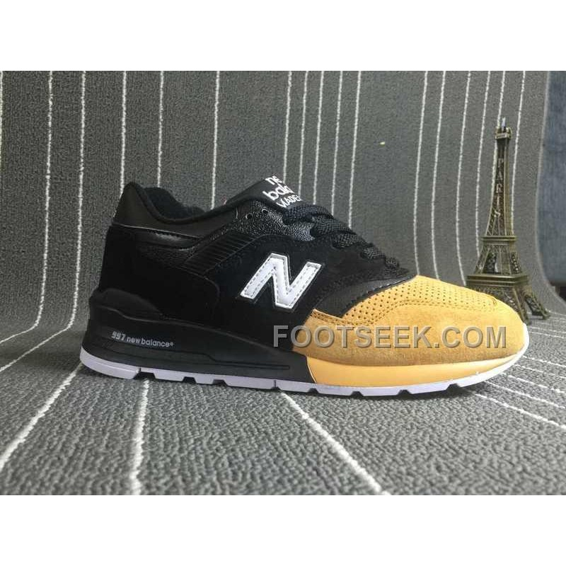 New Balance 997 Men Black Yellow Cheap