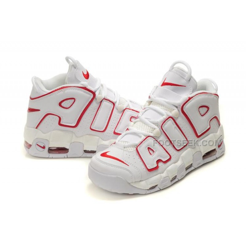Nike Air More Uptempo White Red Discount