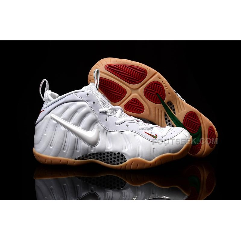 buy online a2119 a96ce Nike Air Foamposite Pro Winter White Gum Bottoms Gym Red Gorge Green  Discount