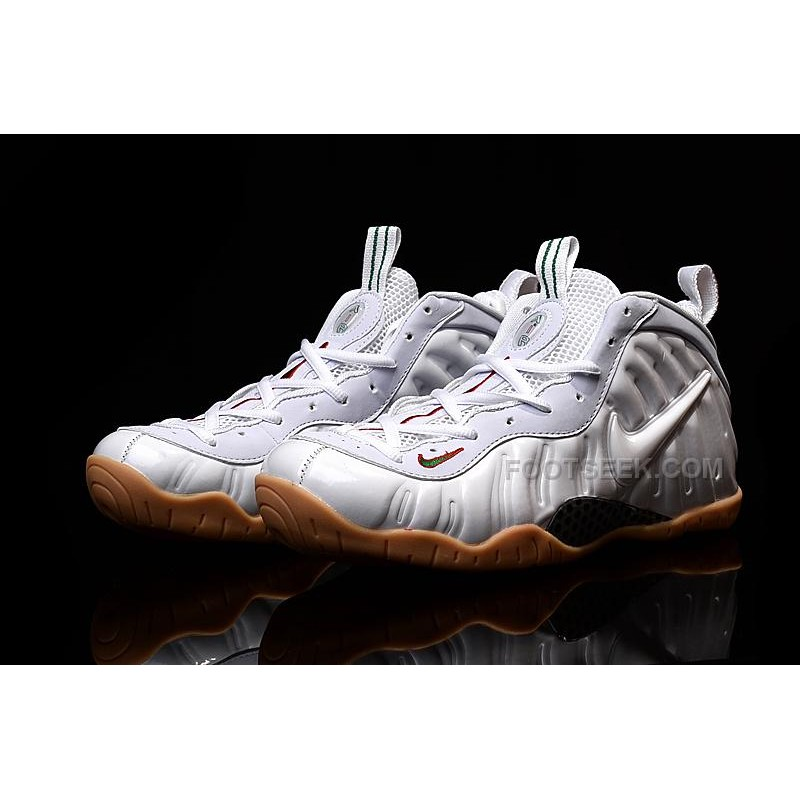 a7aeda336f5bd ... Nike Air Foamposite Pro Winter White Gum Bottoms Gym Red Gorge Green  Discount ...