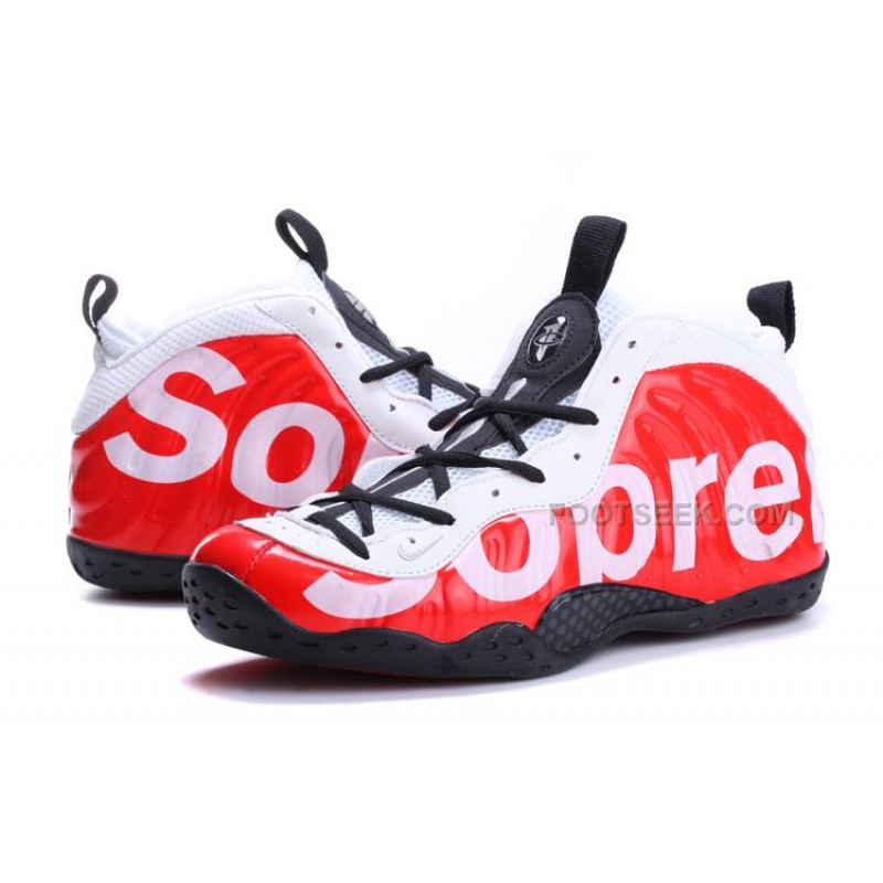 5f7262f888a ... For Sale Nike Air Foamposite One X Supreme Red White Black Online  Discount ...