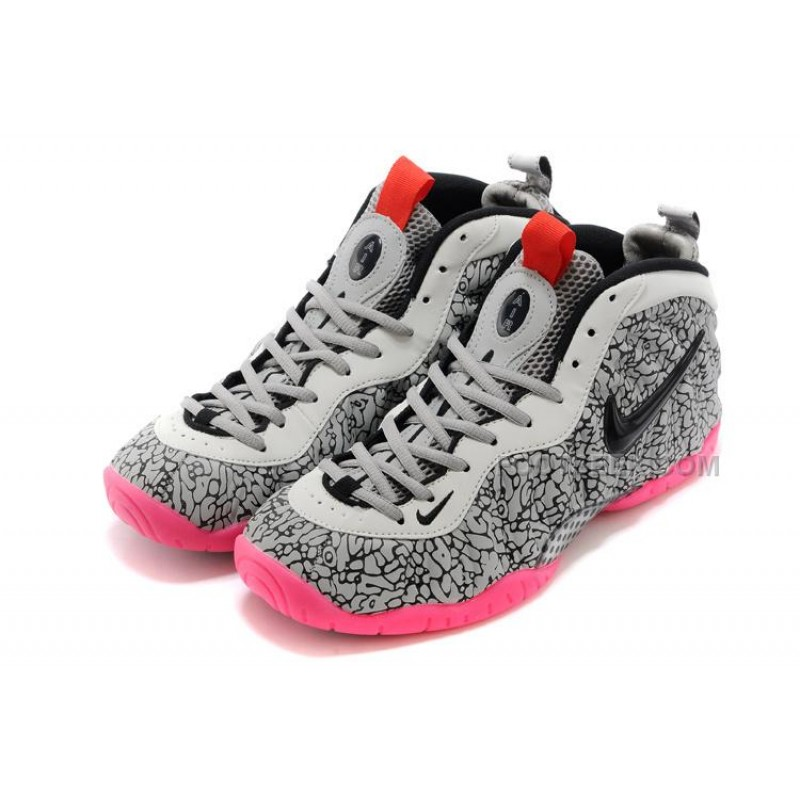 """best sneakers a0b62 40431 Nike Air Foamposite Pro """"Elephant Print"""" Wolf Grey-Bright Pink/Off-White  For Sale Discount"""