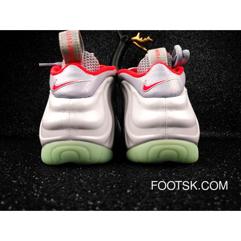check out cbbe3 e9272 Nike Air Foamposite Pro Prm Pure Platinum -Grey   Red Top Deals YesXiy